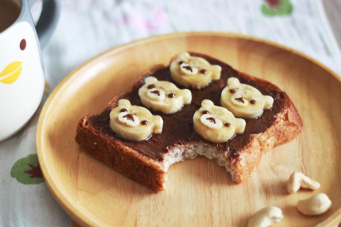 Choco-Banana Rilakkuma Toast